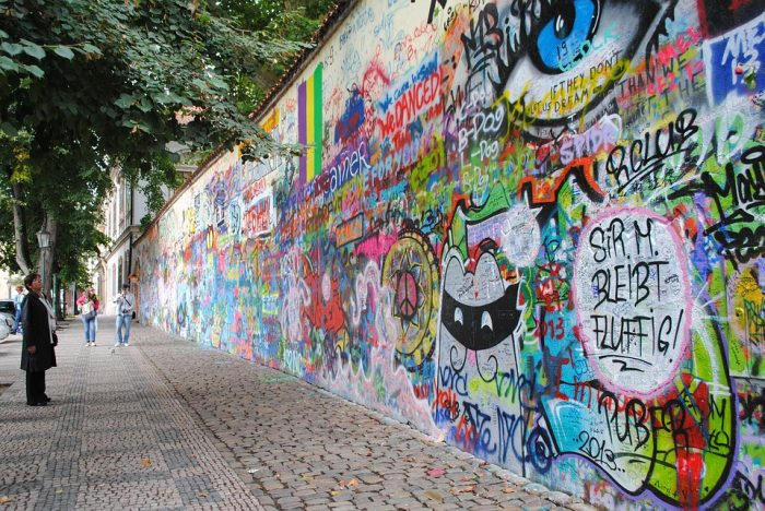 Prague-Lennon wall
